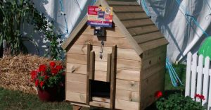 Chicken coup at the show demonstrating the Dawn Till Dusk Automatic Door