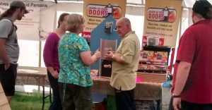 Plenty of interest and lively discussion with Dawn Till Dusk Door's Russ Moore at the New Forest Show 2014