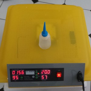 Automatic 48 Egg Incubator Top View of unit lid and digital controller